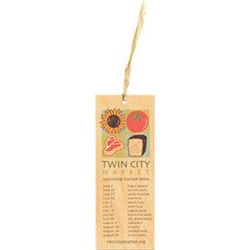 Wood Raffia Tie Bookmarks