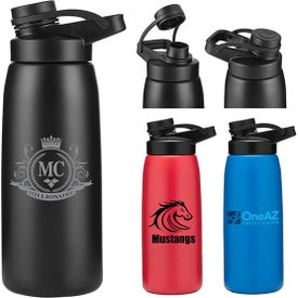 The Work Out Stainless Steel Vacuum Bottles (26 Oz.)