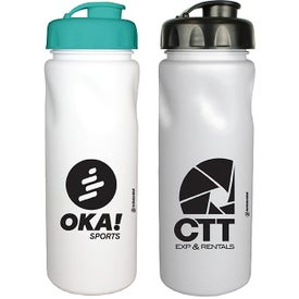 MicroHalt Cycle Bottles with Flip Top Cap (24 Oz., Screen Print)
