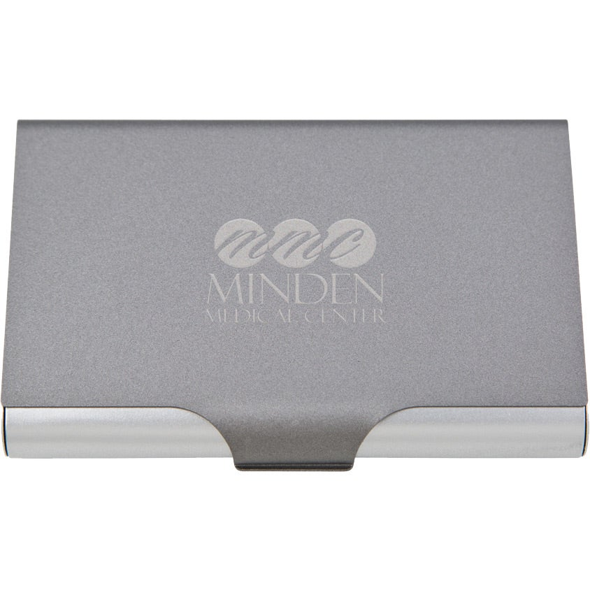 graysilver aluminum business card case for advertising - Business Card Cases