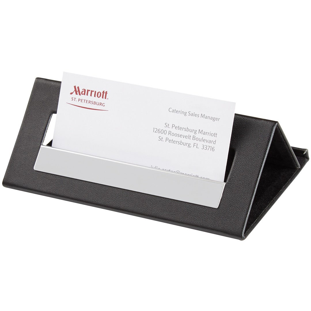 Promotional Executive Desk Card Holder and Media Stands with Custom ...