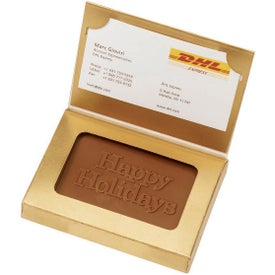 Wrapped Chocolate Business Card Holder