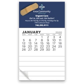 12 Month Magnetic Calendar Notepad