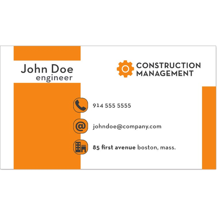 Promotional 2 sided premium business cards with custom logo for white premium business card 2 sided printed reheart Choice Image