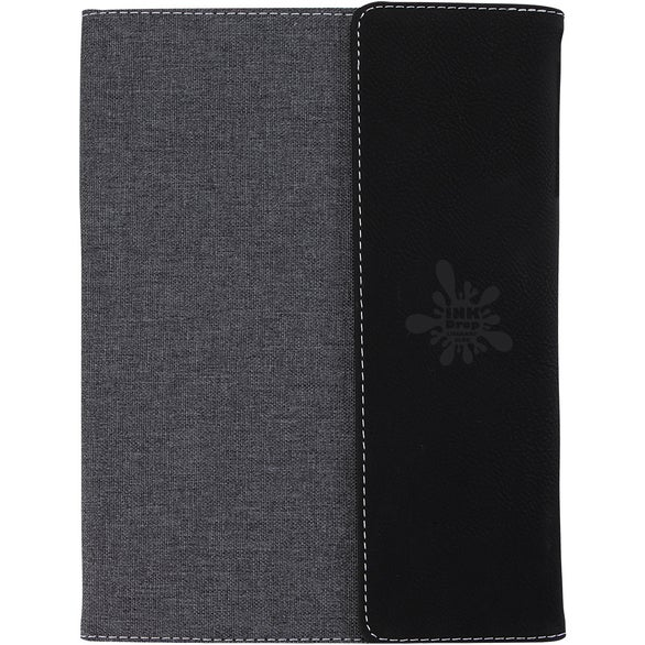 Gray / Black Belvedere Junior Padfolio