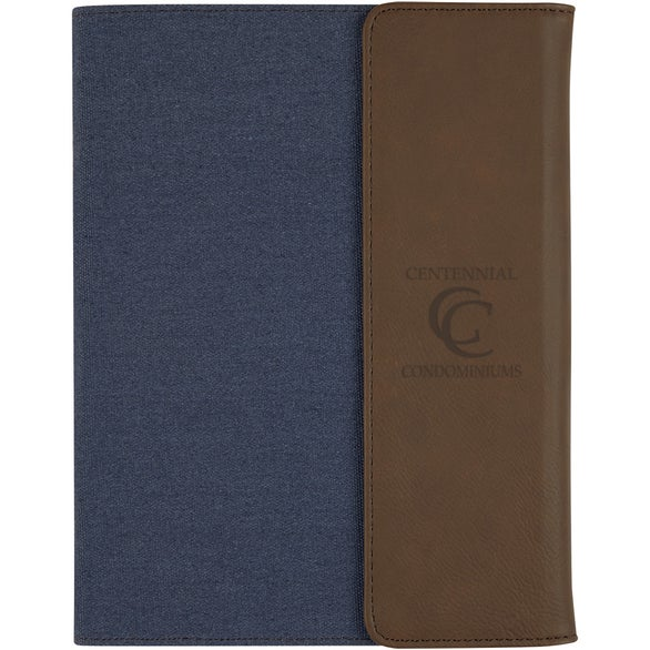 Navy Blue / Brown Bombay Junior Padfolio