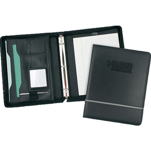 Black Chartwell Zippered Ringfolio