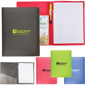 Letter Size Folders with Writing Pad