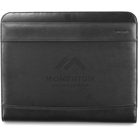Black Samsonite Peyton Leather Writing Pad