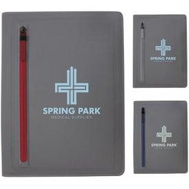 Sleek Zippered Pocket Padfolio