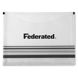 Personalized Striped Travel Pocket Portfolio