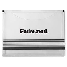 Personalized Striped Travel Pocket Portfolio