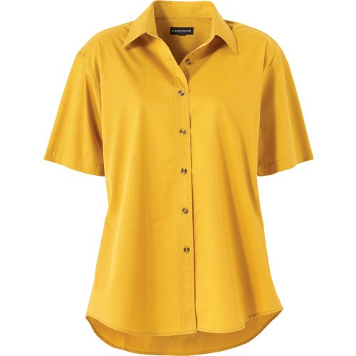 Promotional women 39 s matson short sleeve shirt by trimarks for Women s button down shirts extra long