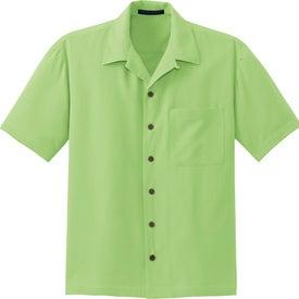 Customized Port Authority Signature Silk Blend Camp Shirt