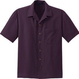 Printed Port Authority Signature Silk Blend Camp Shirt