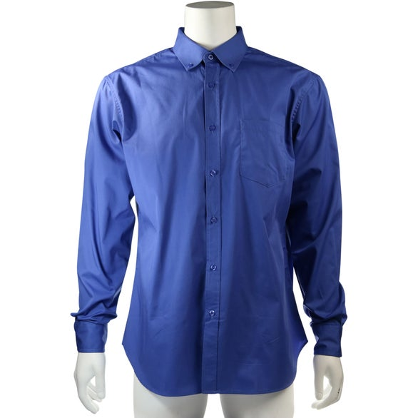 Blue Wilshire Long Sleeve Shirt by TRIMARK