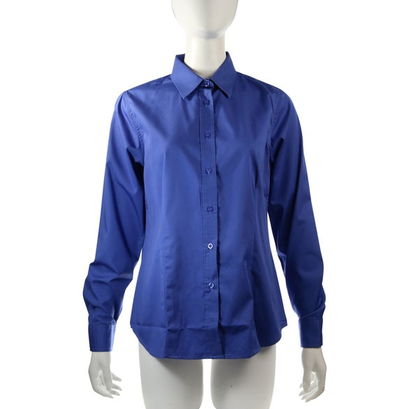 Promotional women 39 s wilshire long sleeve shirt by trimarks for Women s button down shirts extra long