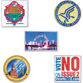Laminated Full Color Metal Lapel Pins (0.03