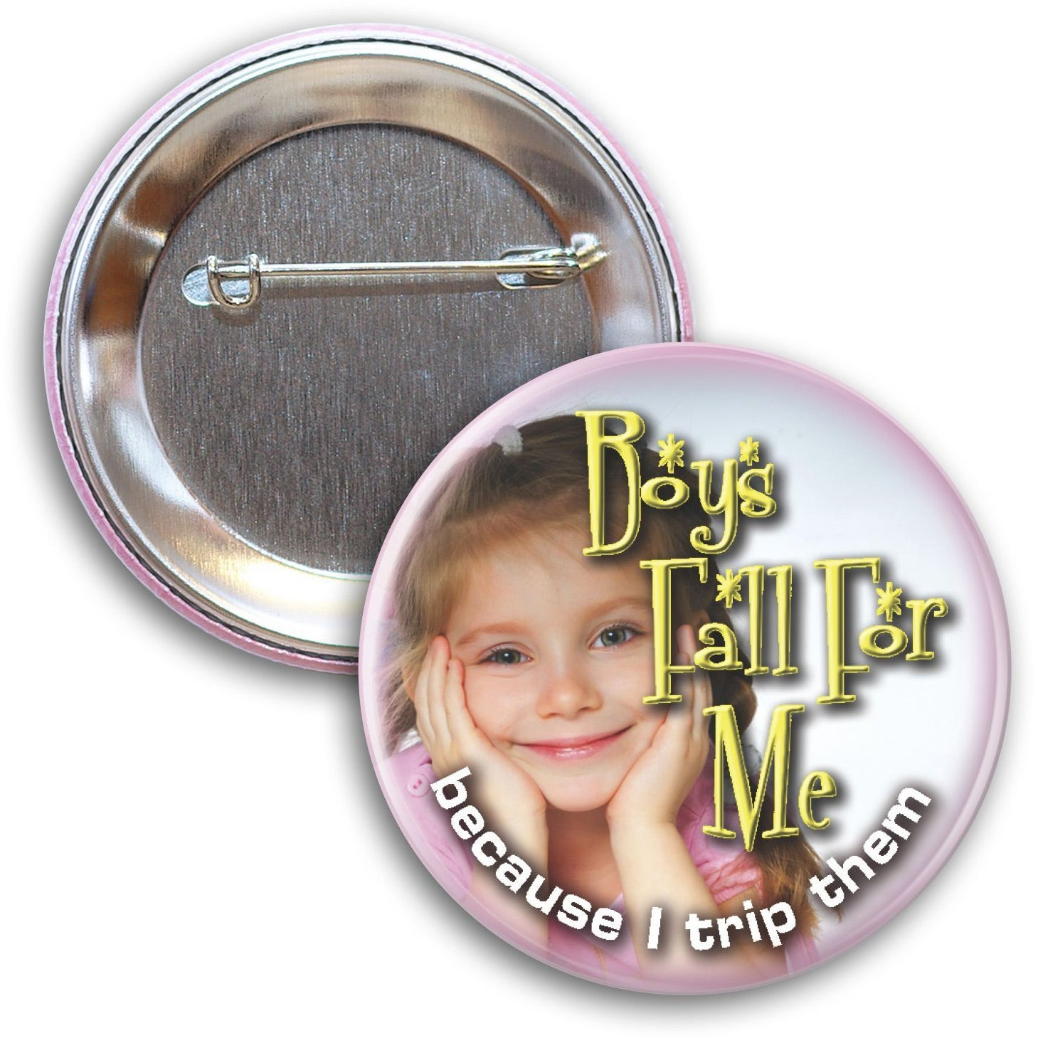 """Round Button with Pin (2-1/4"""")"""