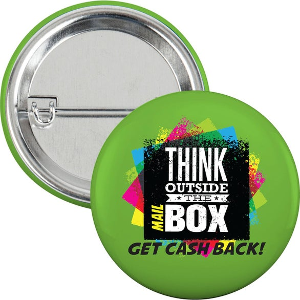 Full Color Imprint Round Safety Pin Button