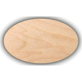 "Wooden Oval Lapel pins (0.0625"" Thick)"