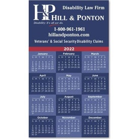 "Calendar Square Corner Magnets (0.02"" Thick, 2022)"
