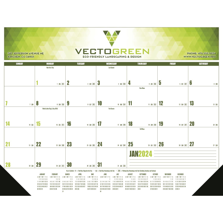 Multi-Color Desk Pad Calendar (2020, Grid Type C)