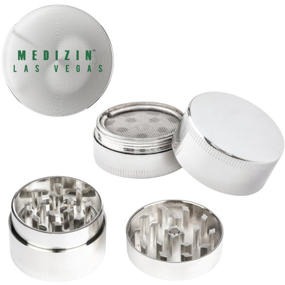 Silver Mini Tobacco Herb and Spices Grinder