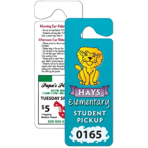 Full Color Imprint Giant Hang Tag Parking Permit
