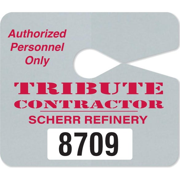 Full Color Imprint Jumbo Hang Tag Parking Permit
