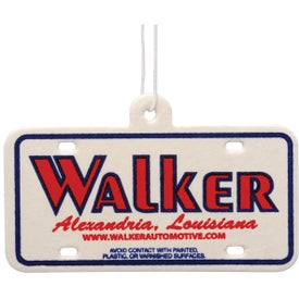License Plate Shaped Air Freshener