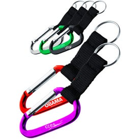 Carabiner and Strap Keychain