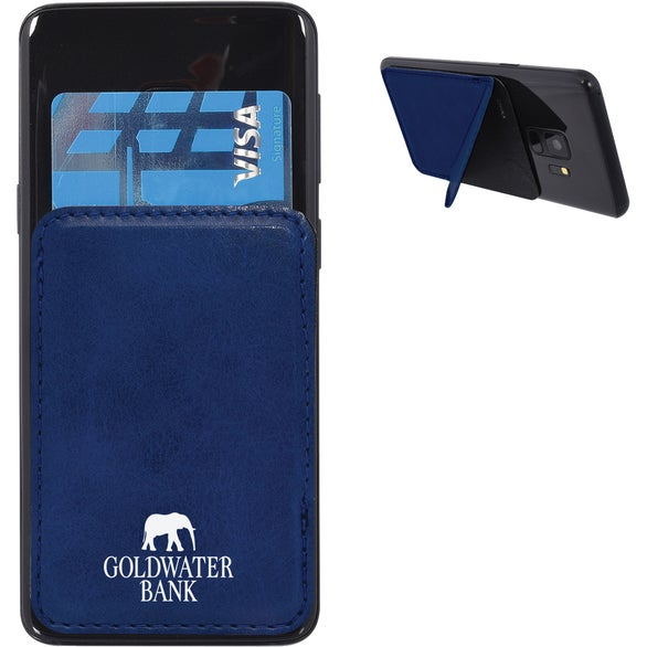 Navy Kickstand Phone Wallet