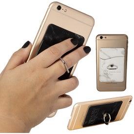 Leeman Marble Card Holder with Metal Phone Stand