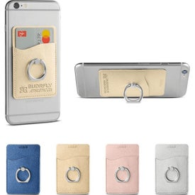 Leeman Shimmer Card Holders with Metal Ring Phone Stand