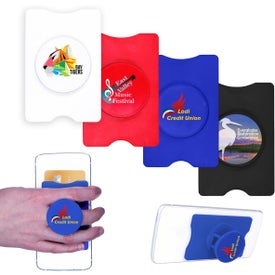 RFID Stand-Out Phone Card Holders (Full Color Logo)