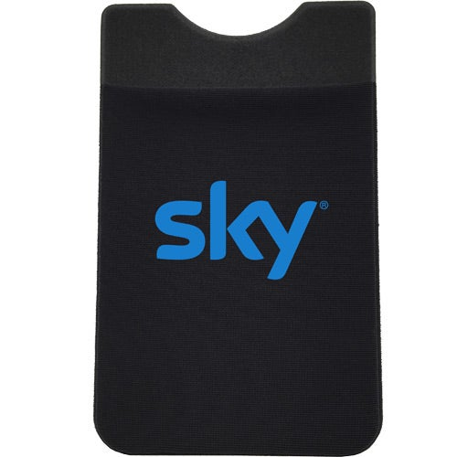 Black Stretch Lycra Fabric Phone Wallet