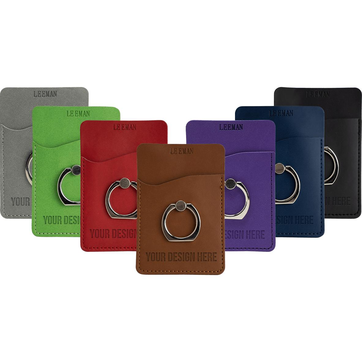 tuscany card holder with metal ring phone stand - Card Holder