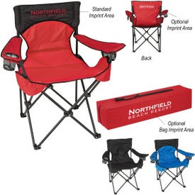 Deluxe Padded Folding Chair with Carrying Bags