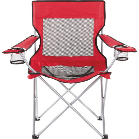 Red Fanatic Event Folding Mesh Chair