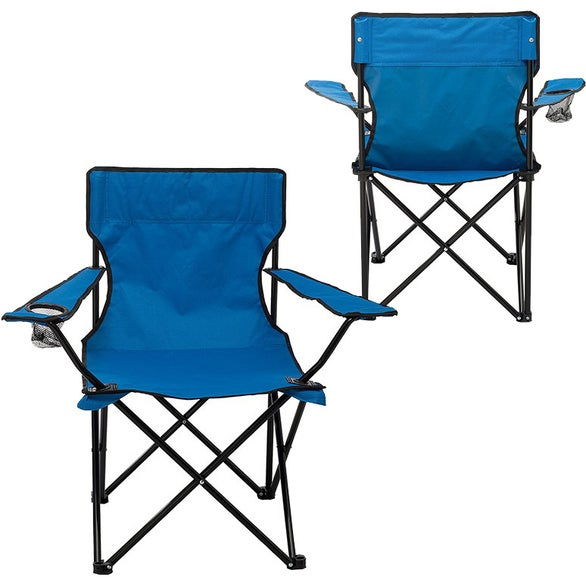 Reflex Blue Folding Captain's Chair