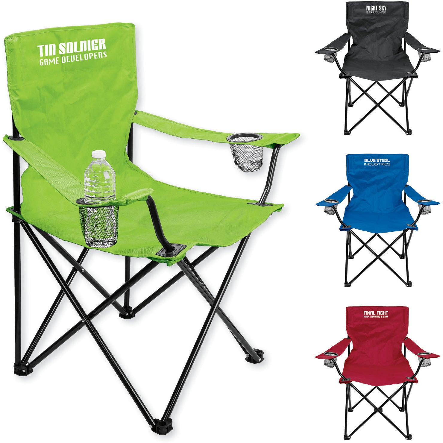 Point Loma Event Folding Chair With Carrying Bag Personalized