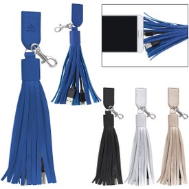 2-In-1 Charging Cables on Tassel Key Ring