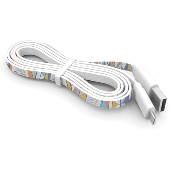 White 3 Foot Branded Cable