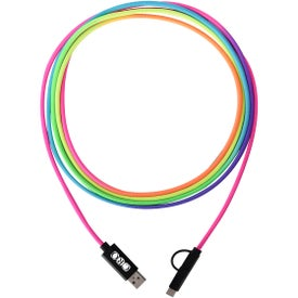 3-in-1 Rainbow Braided Charging Cable (10 Ft.)