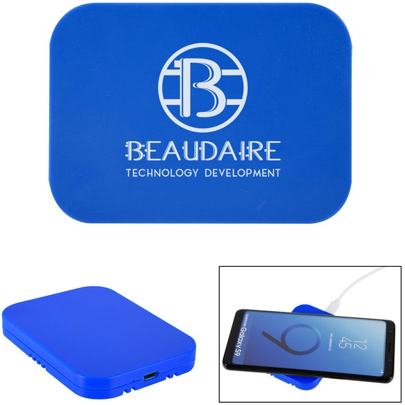Blue Back To Basics Wireless Charging Pad