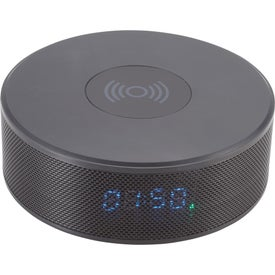 Bluetooth Speaker Clock with Wireless Charging (4000 mAh)