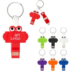 Clipster Buddy 3-in-1 Charging Cable Key Rings