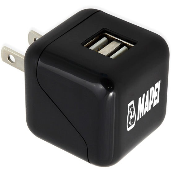 Black Simport ETL Certified 2-Port Wall Charger XL
