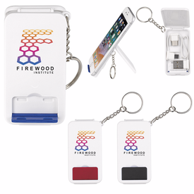 Keyring Multifunction Charging Cable with Stand